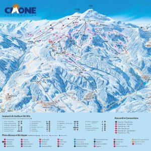 Mappa piste da sci del Cimone